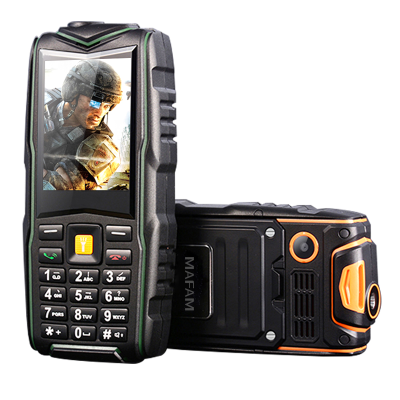 MAFAM F8 IP67 waterproof 8800mAh dual card shockproof call recorder torch long standby FM <font><b>power</b></font> bank charger rugged phone P128