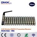 Бесплатная доставка DHL 16 шт 2 4 GHz беспроводной приемник или Отправитель XLR беспроводной DMX512 приемник маленький размер