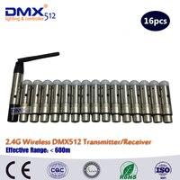 DHL Freies Verschiffen 16 stücke 2 4 ghz drahtlose empfänger oder sender XLR Wireless DMX512 Empfänger kleine größe