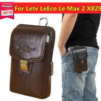 Luxury Genuine Leather Carry Belt Clip Pouch Waist Purse Case Cover For Letv LeEco Le Max