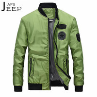 AFS JEEP Fashion Man Pilot Jacket Autumn Winter Beyzbol Man O Neck Casual Cardigan Jackets Young