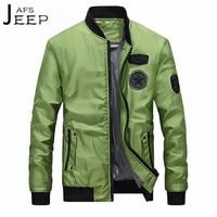 AFS JEEP Fashion Man Pilot Jacket Autumn Winter Beyzbol Man O Neck Casual Cardigan Jackets Young