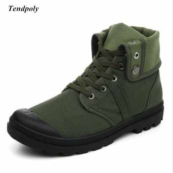 Classic retro men\'s boots new Spring autumn non-slip breathable middle canvas shoes outdoor casual shoes fashion hot wild boots
