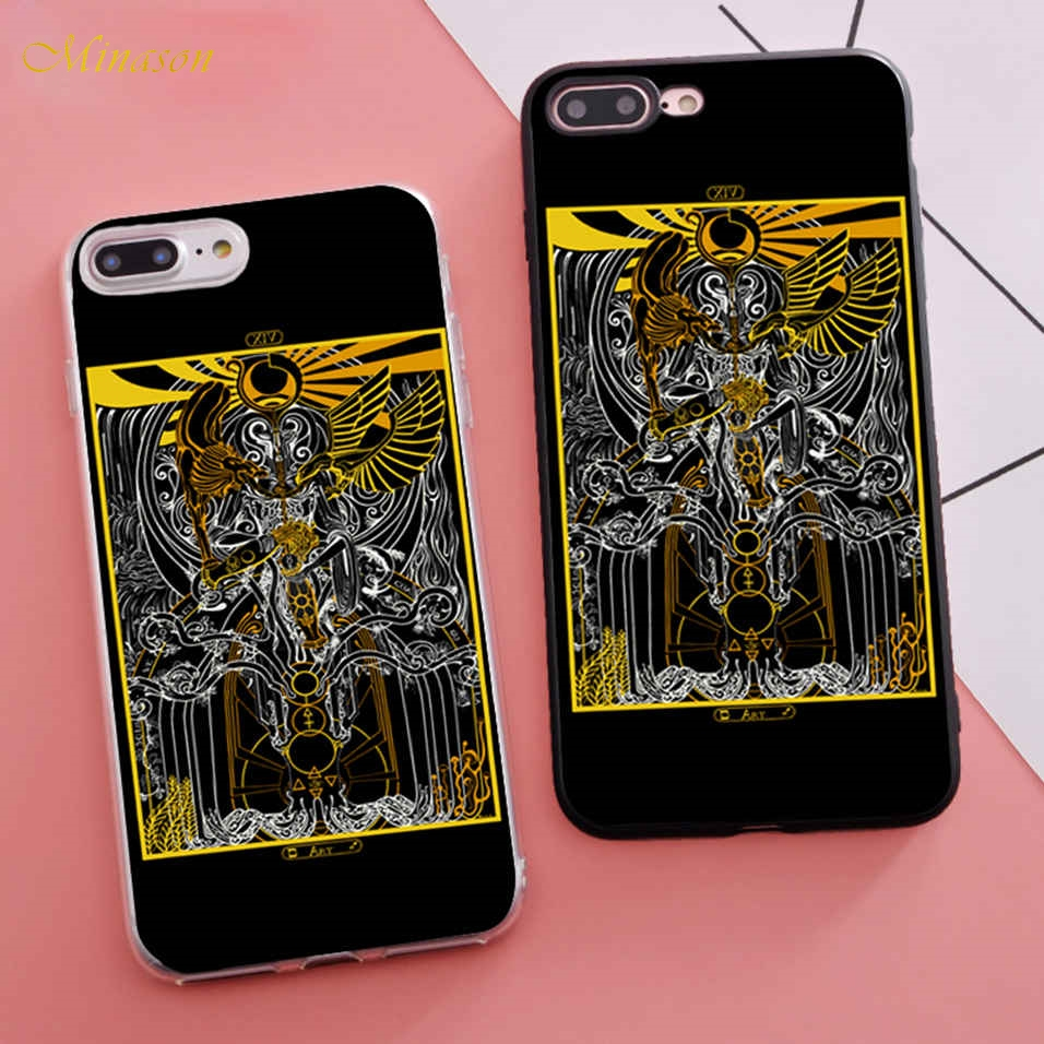 Minason Trending Coque Tarot Cards Silicon Fitted Housings Phone Case for iPhone X 5s SE 6 S 6s 7 8 Plus Cover Rubber Bumper