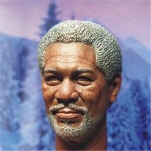 """Image 5 - Morgan Freeman modelo de cabeza esculpida para hombre, juguetes a escala 1/6, modelo de talla de cabeza para hombre, accesorio de figura de acción masculino de 12 """", envío gratuito"""