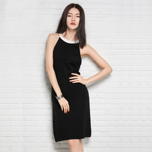 POEM&HEART 2017 Summer European American Fashion Hang Long Neck Strap Sexy Comfortable Women Dress Camis Sleeveless Girl Dress