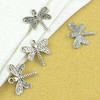 25Pcs Zinc Alloy dragonfly Charm vintage Tibetan Silver Pendant Jewelry Products Charms Diy Pendants For Necklace Bracelets 2116