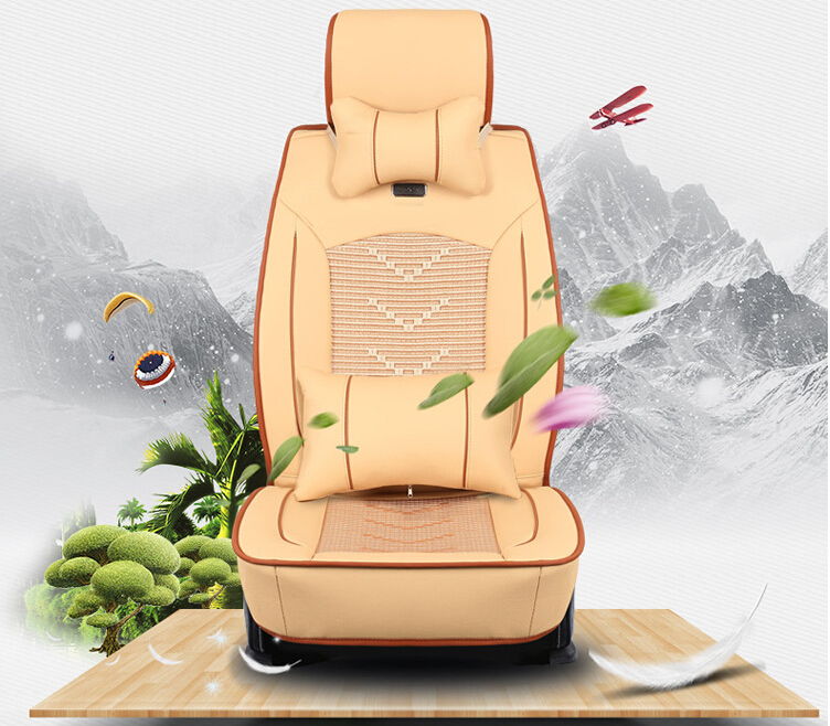 OHANNY car covers seat cover universal for 5 seat standard headrests rear seat back split auto interior accessories car-covers