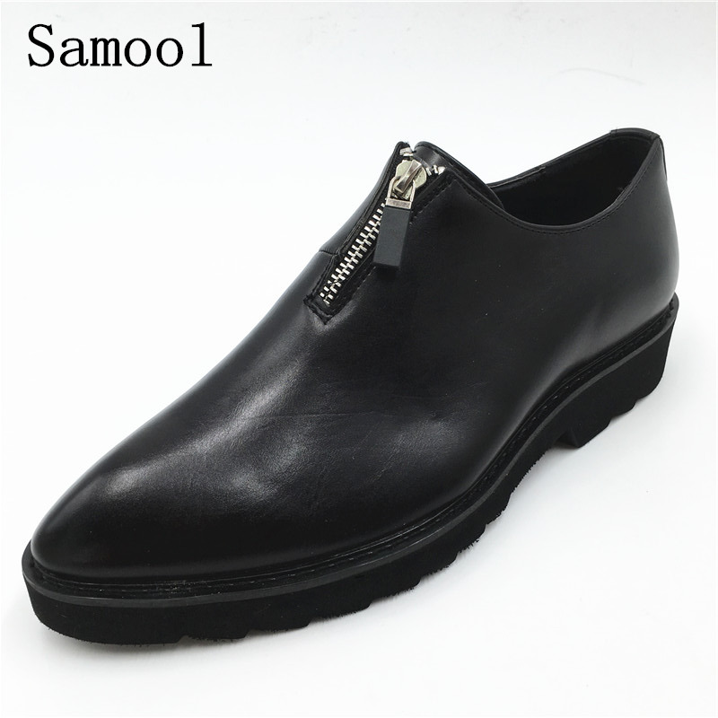 Fashion Leather Men Formal Dress Shoes Pointed Toe Black Bullock Oxfords Shoes For Men Lace Up Luxury Men Business Shoes fx3 patent leather men s business pointed toe shoes men oxfords lace up men wedding shoes dress shoe plus size 47 48
