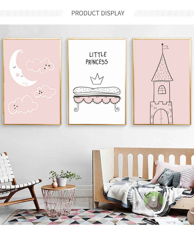 3 Kids Personalised Prints Cute Swans Stripe Nursery Wall Art Decor Pictures