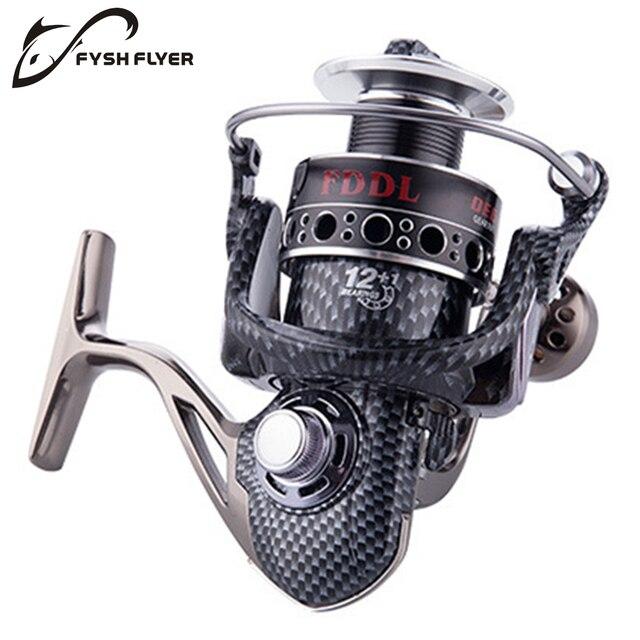 US $26 31 |2018 New, DE2000 7000,12+1BB,Fishing Spinning Reel, Full Metal  Reel, Infinite Anti Reverse Structure, Front Drag System-in Fishing Reels