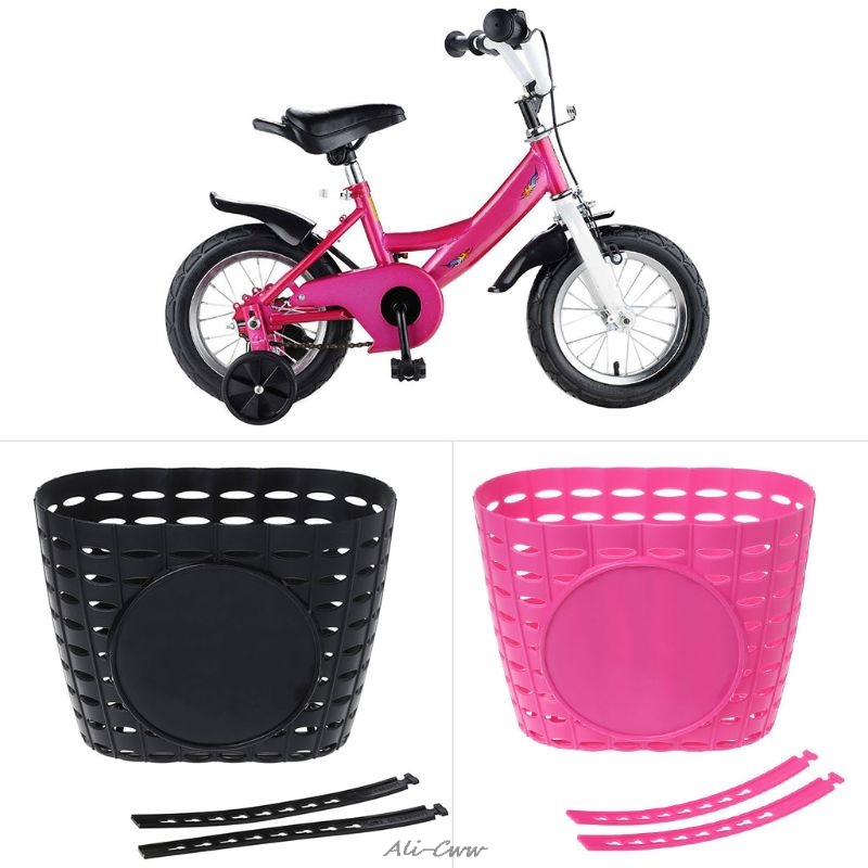 Bicycle Basket Hollow Children Bike Tricycle Scooter Storage Front Handlebar Plastic Carrier Cycling Kids Riding Shopping | Happy Baby Mama