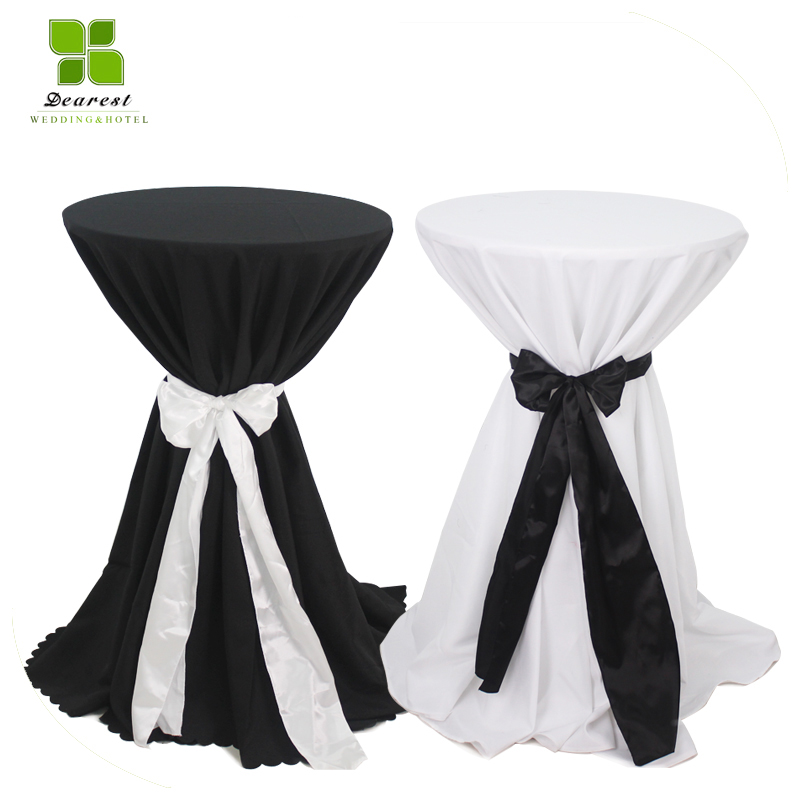 DEAREST 2pcs/lot Cocktail Table Cloth Polyester Table Linen Hotel Banquet  Round Tables Decoration Wholesale In Tablecloths From Home U0026 Garden On ...