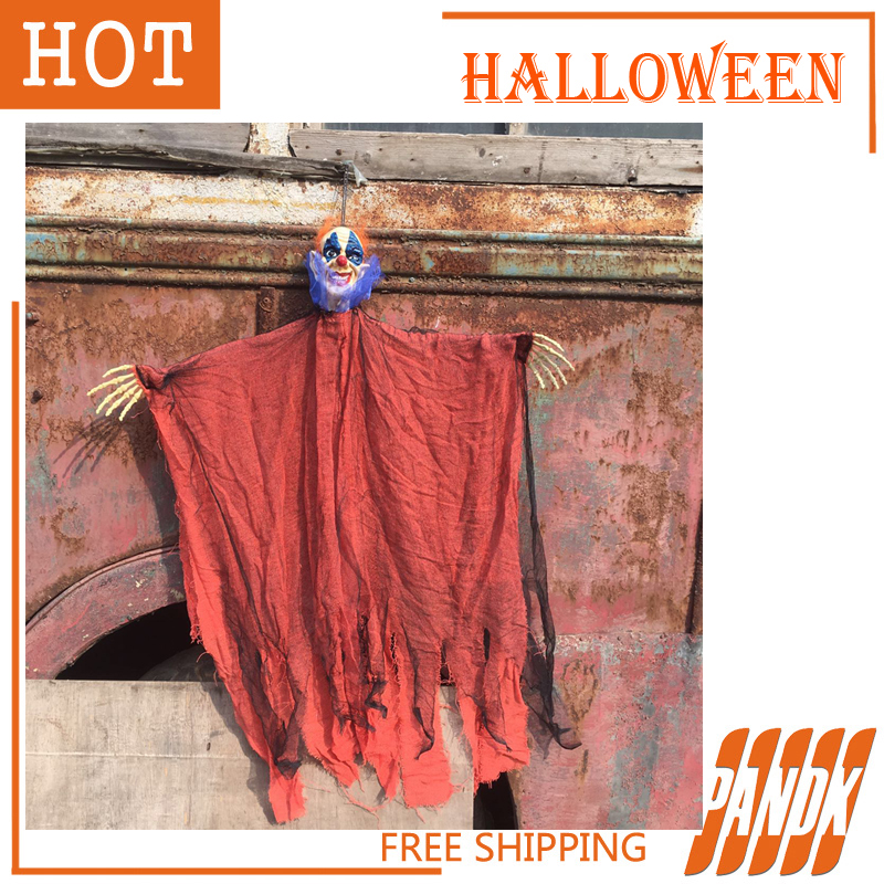 halloween props hanging latex devil clown halloween decorations haunted house halloween party halloween yard free shipping