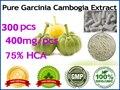 Pure Гарцинии камбоджийской экстракт 75% HCA) потеря веса 100% эффективных сжигателей жира, 300 шт. для 90 дней питания