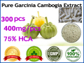 Pure Garcinia Cambogia extracts (75% HCA) weight loss 100% effective fat burners, 300 pcs for 90 days supply