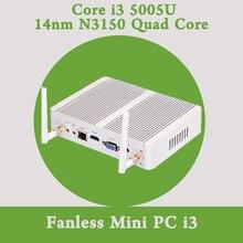 Безвентиляторный Mini PC Windows 10 Кну Barebone Intel Core i3 5005U 2 ГГц HD 5500 Graphics Micro PC 4 К HTPC wifi HDMI usb flash drive usb
