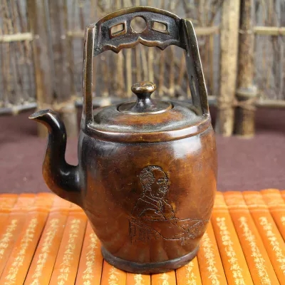 New products copper miscellaneous fine decoration, hand held wine pot, bucket shaped