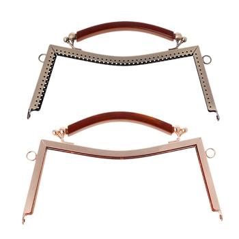New Arrive 1PC Metal Frame Clasp Lock For Sewing Coin Purse Bag Accessories DIY 20.5cm new hex flex frame with o ring bag fittings 10 inches metal internal flex frame for diy bags
