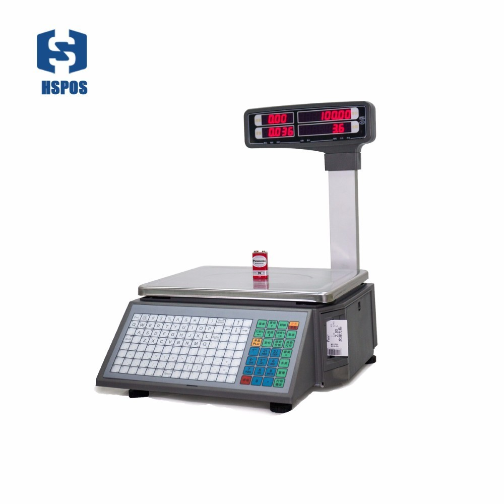 1/3000 barcode printing Electronic weighing Scales with 10000 PLUs data storage capacity for supermarket meat shop or fruit shop