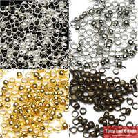 Il trasporto Libero 1000 Pz/lotto 3mm Dia Pick 4 Colori Risultati Dei Monili Palla Liscia Aggraffature Beads