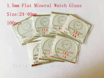 100pcs 1.5mm 25 to 40mm Flat Mineral Watch Crystal/Glass in Good Quality for Watchmakers - DISCOUNT ITEM  30% OFF All Category