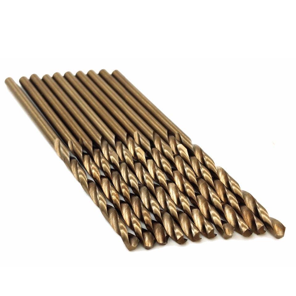 10pcs HSS-CO High Speed Steel M35 Cobalt Twist Drill Bit Steel Metal Drilling Rotary Power Tools Sets 1/1.5/2/2.5/3mm
