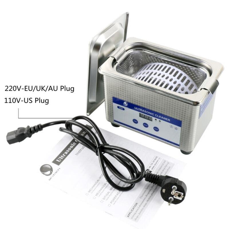 Цифровой миниатюрный Ультразвуковой очиститель металлическая корзина Стиральная ювелирные часы стоматологический CD 800 мл 35 Вт 40 кГц очист...