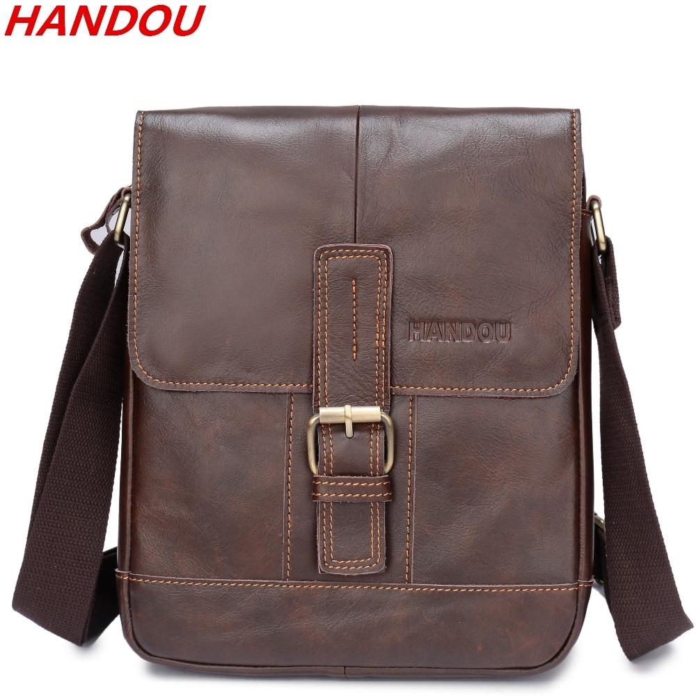 45dd7088ee Γνήσια υψηλής ποιότητας ανδρών δερμάτινη τσάντα ώμου Messenger ...