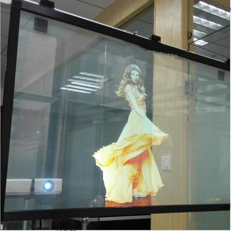 Film de Projection arrière Transparent HOHOFILM 152 cm x 50 cm Film de Projection arrière pour animaux de compagnie Film holographique de haute qualité