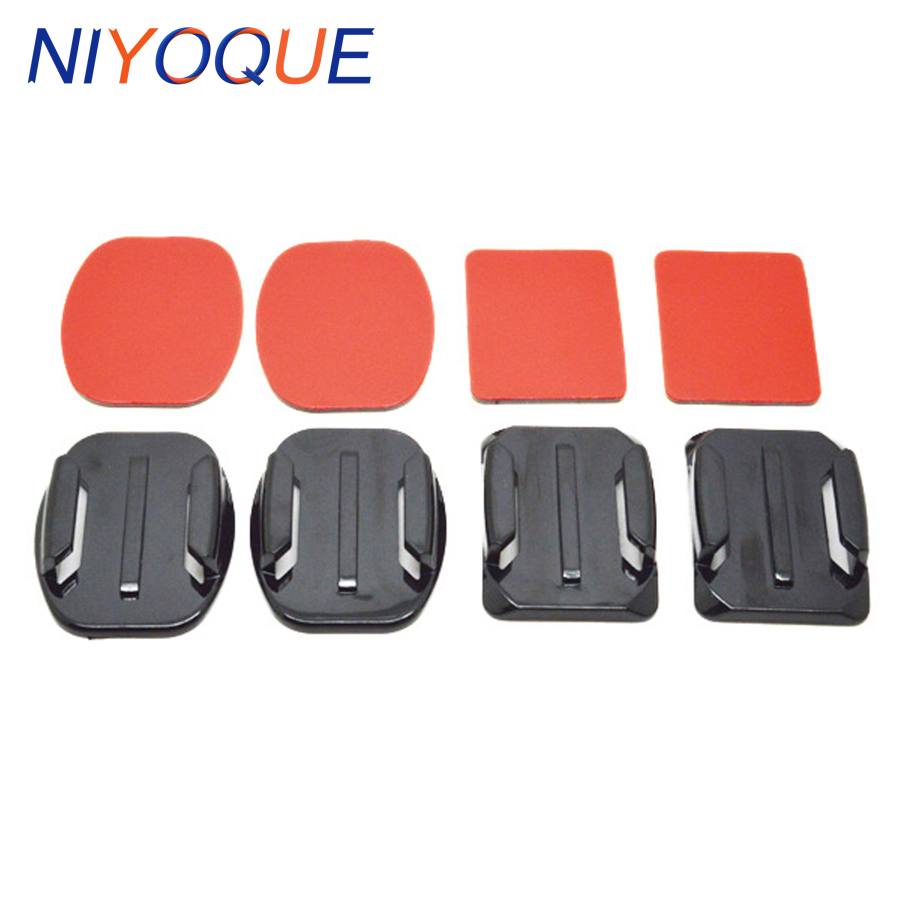 Top Quality Action Cam Accessories 2 Pcs Square Base and 2 Pcs Oval-shaped Base With Double-sided Adhesive Sticker for Gopro