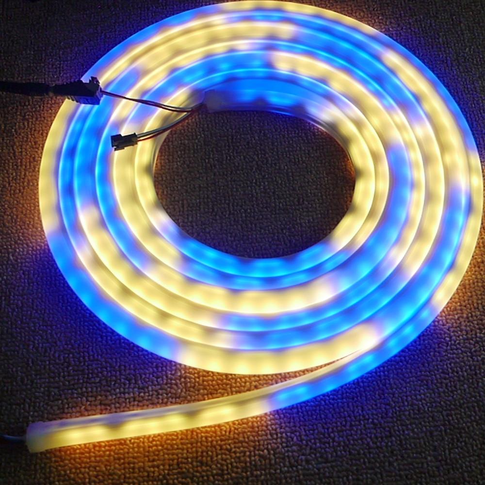 5m/Roll High quality 60led/m WS2811 flex neon digital RGB dream color LED pixel light DC12V