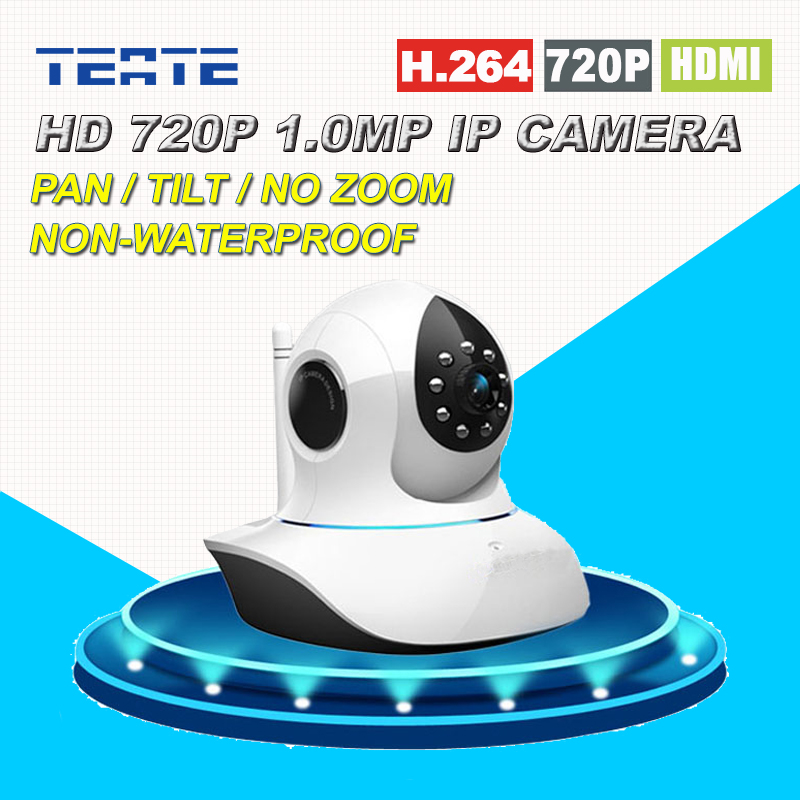 Home Protection HD 720P 1.0MP MegaPixel Wireless Wifi IP Camera with Pan/Tilt SD Card Slot IR Cut for Security Surveillance wireless ip camera hd 720p megapixel wifi camera home security cameras support tf sd card indoor two audio pan tilt p2p ip cam