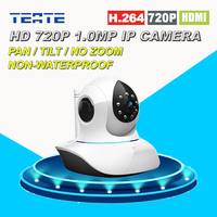 Home Protection HD 720P 1.0MP MegaPixel Wireless Wifi IP Camera with Pan/Tilt SD Card Slot IR Cut for Security Surveillance