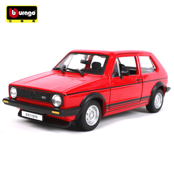 Bburago 1:24 1979 Golf GTI simulation alloy car model crafts decoration collection toy tools gift bburago машина volkswagen golf gti edition 30 металл 1 32 bburago