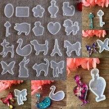 XCDIY силиконовая форма для ювелирных изделий Подвеска милые животные кошка кролик олень лошадь Смола Силиконовая Форма Ремесло Ювелирные изделия Кулон DIY