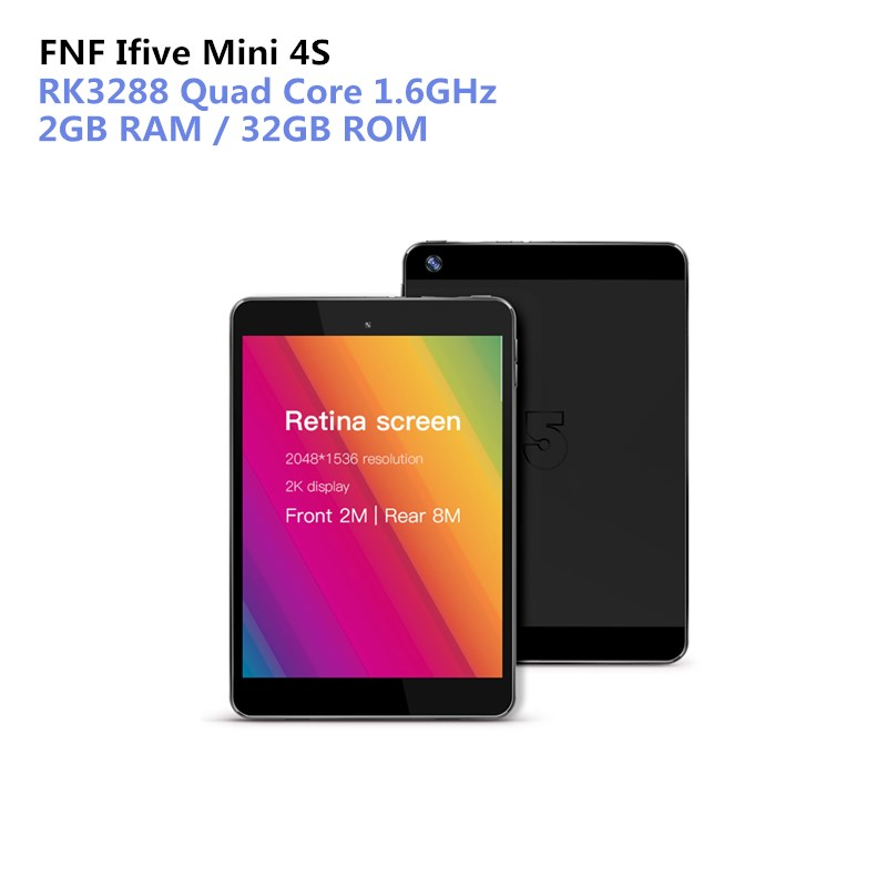FNF Ifive Mini 4S Tablet PC 7.9 Inch Android 6.0 RK3288 Quad Core 1.6GHz 2GB RAM 32GB ROM Dual Cameras Bluetooth Wifi PC свитшот print bar cs go hyper beast black style