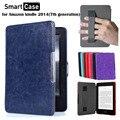 Fmst pu ímã da tampa do caso de couro para ereader amazon novo kindle touch 2014 ª geração 6 ''ebook case + tela protector + stylus