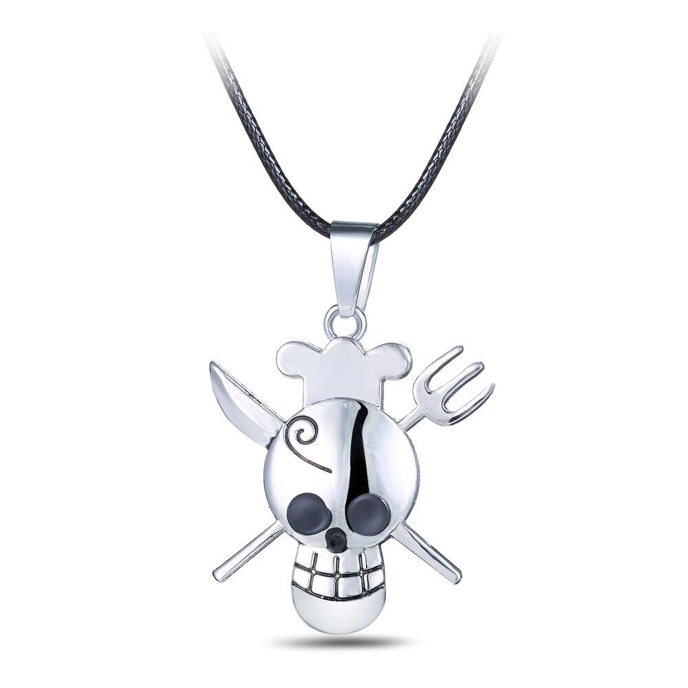 ONE PIECE NECKLACE Round Skull Logo Pendant Anime Luffy Pirate Shounen Manga