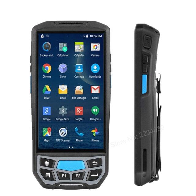 5.0 polegada 1d/2d qr código de barras scanner nfc wifi pda android 7.0 5 polegada sem fio portátil código de barras rearder handheld pos terminal 1