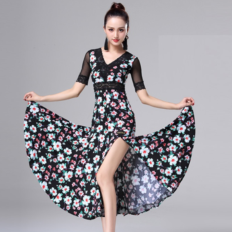 ballroom dress for sale ballroom costume waltz dress luminous costumes dance wear women standard social dresses rumba print