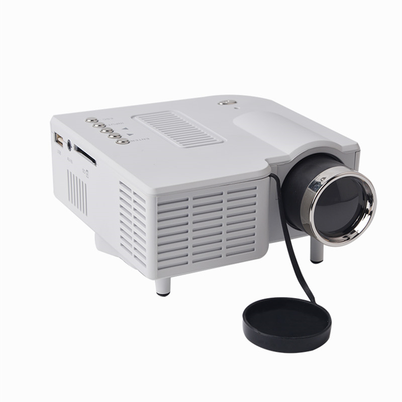 ФОТО Hot UC28+ HDMI Mini Micro AV LED Digital Video Game mini Projector Inputs AV VGA USB SD White Black