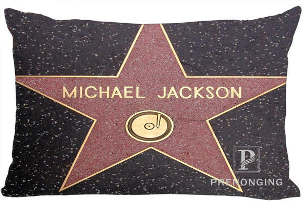 Best Custom Pillow Case Michael Jackson@02 Rectangle Pillowcases zipper 35x45cm (One Side Print) @180117-64