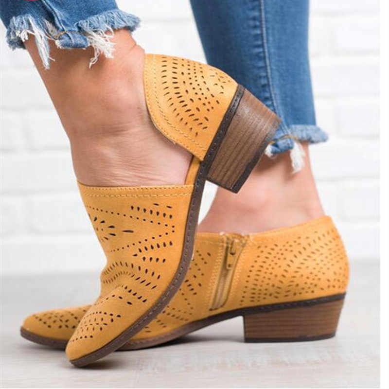Flat Platform Shoes Women Brogue Shoes Leather Pointed Toe Oxford Shoes Women Pink Yellow Casual Shoes mujer Plus Size 34-43