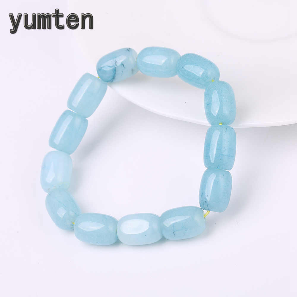 Yumten Natural Aquamarine Bracelet Crystal Bracelet Jewelry 10mm Beads Romantic Casual Crystal Yoga Birthday Present Kingdom