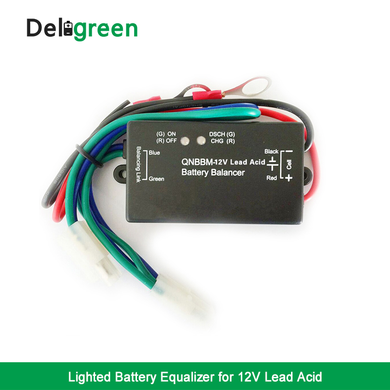 with Led Indicator 1S Battery Equalizer single Cell 12V Lead Acid Battery Balance BMS  Battery GELL Flooded AGM