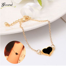 Simple Style Heart Shape 3 Colors Bracelet For Women Wedding Jewelry Accessories Wholesale Bangles Bijoux