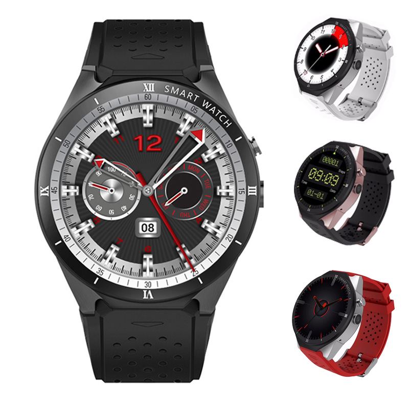 RUIJIE KW88 Pro Smart Watch Men Android 7.1 Clock MTK6580 3G Smartwatch 1GB 16GB Heart Rate Monitor GPS with 2MP Camera