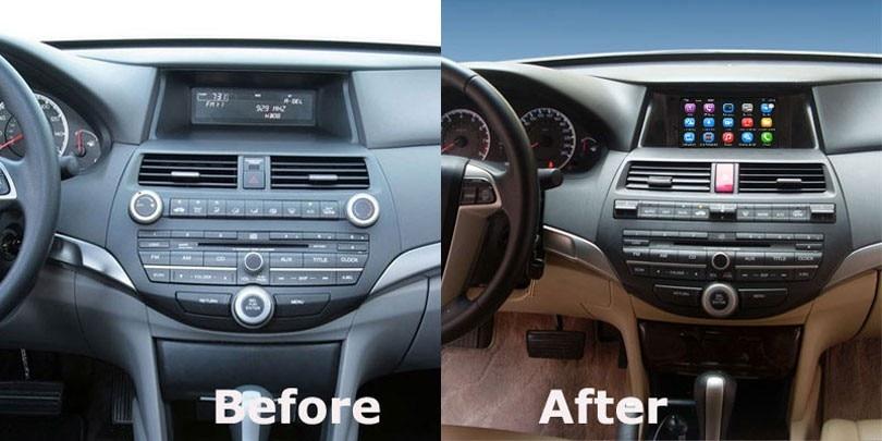 למעלה שדרוג המקורי ברכב נגן מולטימדיה לרכב ניווט GPS החליפה הונדה אקורד GI-65