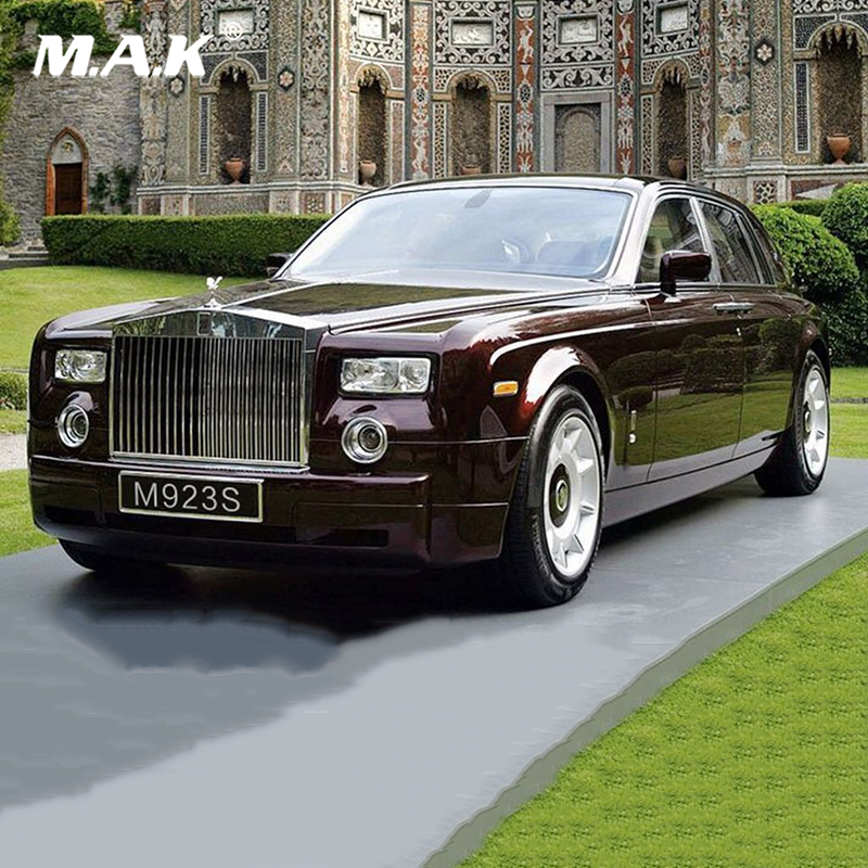 Kids toys 1:24 diecast Alloy Rolls-Royce Phantom 1:24 Diecast Wine Red Model Car Collection mini model car toys W SOUND LIGHT